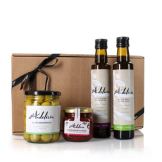 Coffret cadeau Découverte (huiles d'olive, olives, marmelade)