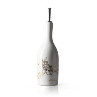 Huilier céramique blanc neige sérigraphié doré (13% d'or) - 50 cl