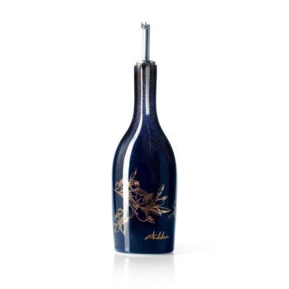Huilier céramique bleu nuit sérigraphié doré (13% d'or) - 50 cl