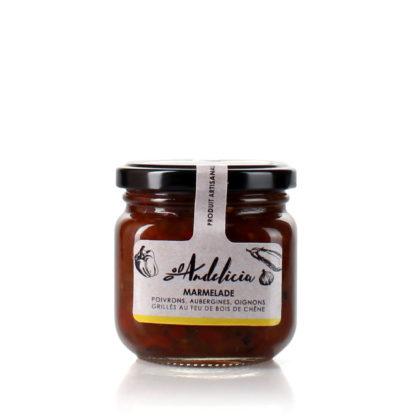 Marmelade de poivrons/aubergines/oignons grillés - bocal 230 g